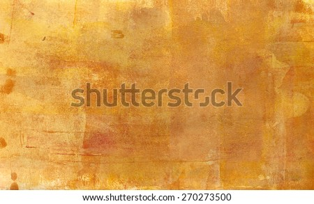 Abstract acrylic golden background texture - stock photo