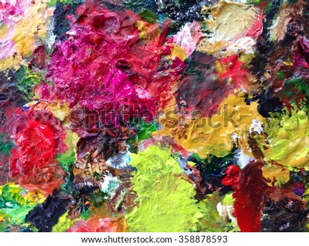 Abstract Acrylic Paint Background