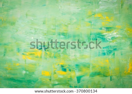 Abstract acrylic painting on canvas. Hand painted texture background. - stock photo