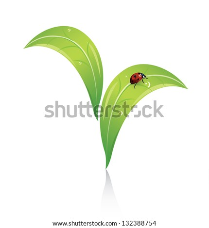 Abstract agriculture symbol - stock photo