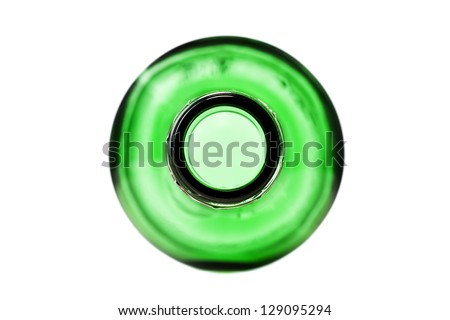 abstract alcohol bottle shot from above - stock photo