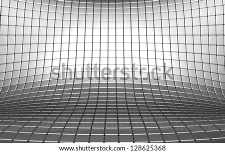 Abstract aluminum square background 3d illustration - stock photo