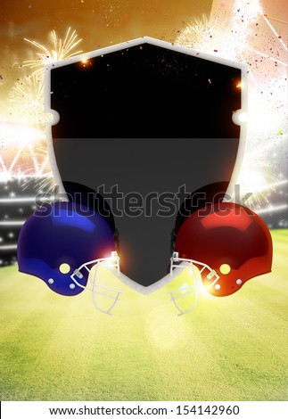 Abstract american foortball invitation flyer or poster background with space - stock photo
