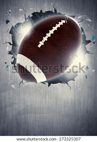 Abstract american football sport invitation poster or flyer background with empty space