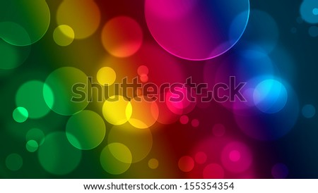 abstract and colorful bubbles background