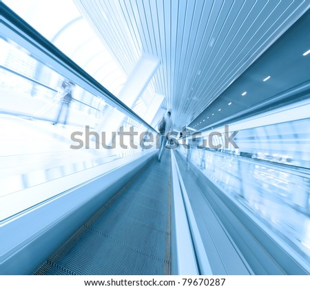 abstract angle of view to passenger transport - stock photo