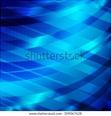 abstract angular dark blue pattern with aqua texture with abstract cornflower curve with rhombus with abstract indigo line on aquamarine background. raster illustration