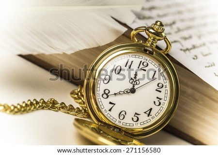 Abstract, antique, books. - stock photo