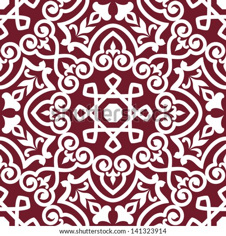 Abstract arabic or persian seamless ornament for background design. Vector version also available in gallery - stock photo