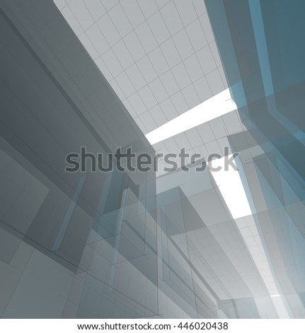 Abstract architectural background. 3d illustration