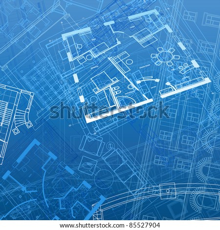 Abstract architectural background. Raster version. Vector version is also available.