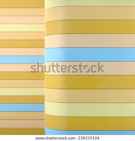 abstract architectural background with horizontal geometric panels in stylish colors - stock photo