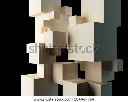 abstract architectural composition - stock photo