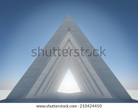 Abstract architectural form - stock photo