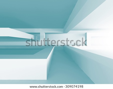 Abstract Architectural Geometric Design Background. 3d Render Illustration - stock photo
