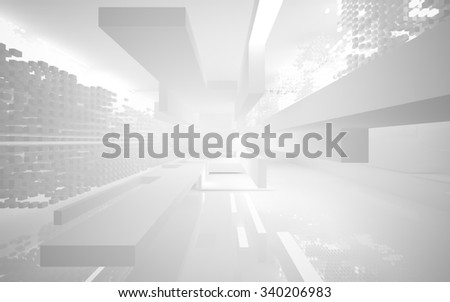 abstract architectural interior. 3D illustration. 3D rendering