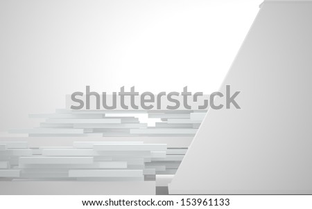 Abstract Architecture. abstract white building on a white background
