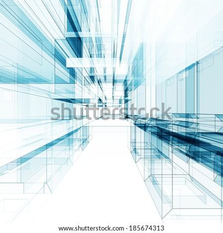 Abstract architecture background. Architecture design and 3d model my own