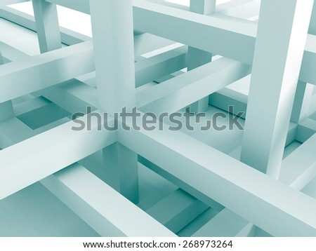 Abstract Architecture Background. Construction Structure. 3d Render Illustration - stock photo