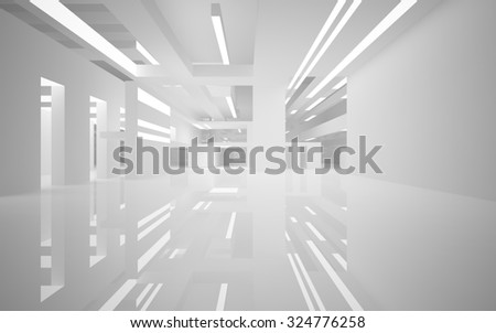Abstract architecture background. 3D illustration. 3D rendering  - stock photo