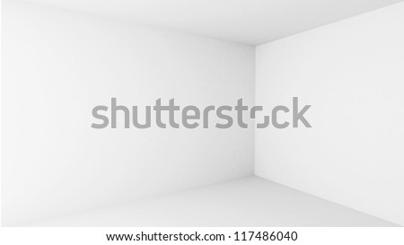 Abstract architecture background. Empty white room interior - stock photo