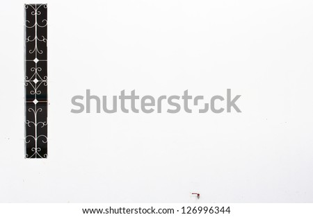 Abstract architecture background.  white wall