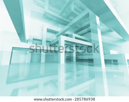 Abstract Architecture Braced Construction Structure Background. 3d Render Illustration - stock photo