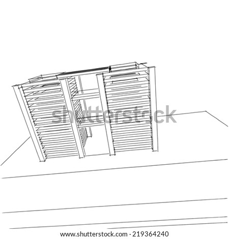 abstract architecture building sketch