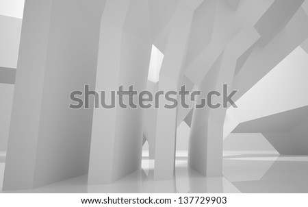 Abstract Architecture.Concep t of a modern building