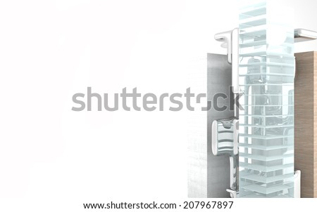 Abstract Architecture. Concept of a modern building