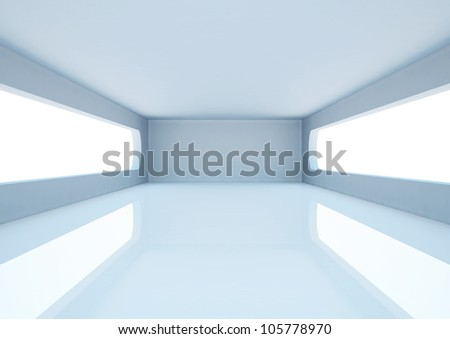 abstract architecture - 3d illustration - stock photo