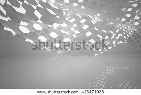 Abstract Architecture. 3D illustration. 3D rendering