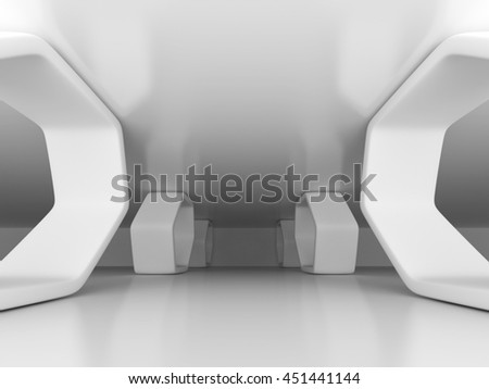 Abstract Architecture Design Construction Background. 3d Render Illustration - stock photo