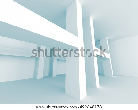 Abstract Architecture Futuristic Design Background. 3d Render Illustration