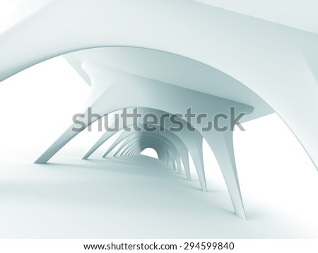 Abstract Architecture Futuristic Modern Design Background. 3d Render Illustration - stock photo