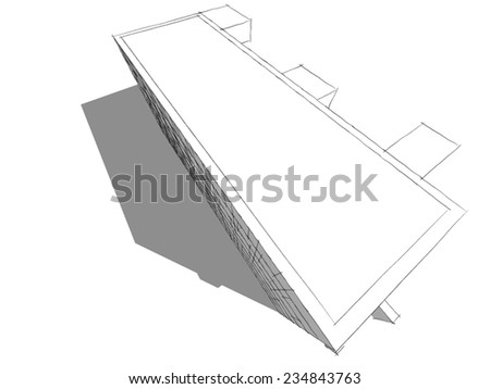 abstract architecture house building concept sketch