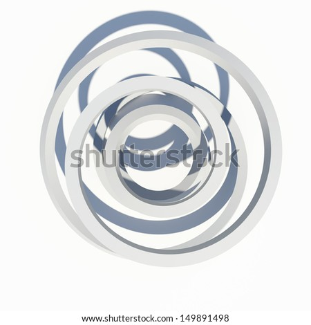 Abstract architecture. Isolated render on the white background - stock photo