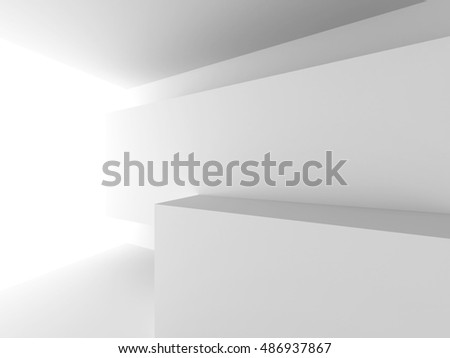 Abstract Architecture Modern Interior Background. 3d Render Illustration