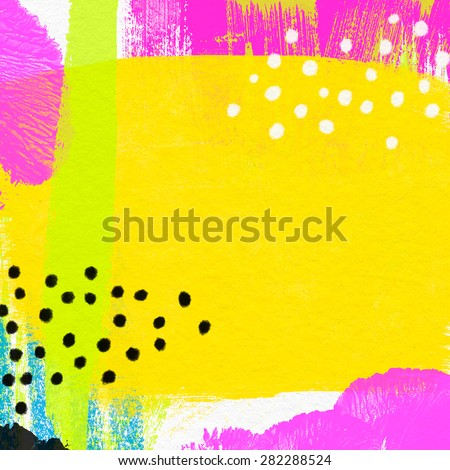 Abstract art background. Bright acrylic painting background. Expressive modern painting background in bright neon colors. - stock photo