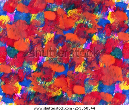 Abstract art background of colorful paint - stock photo