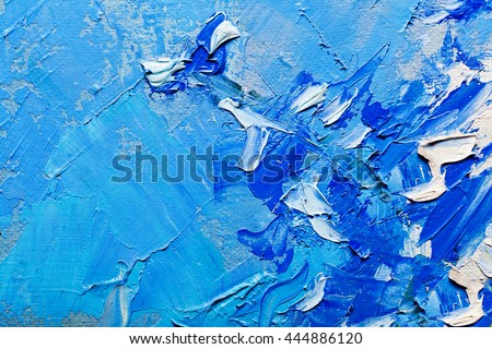 Abstract art background. Oil painting on canvas. Multicolored bright texture. Fragment of artwork - stock photo