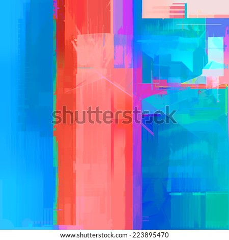 Abstract art background with blue and red - stock photo