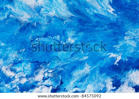 Abstract art  Blue