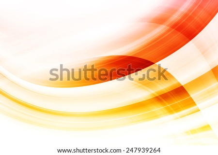 Abstract Art Curved Orange Background Design - stock photo