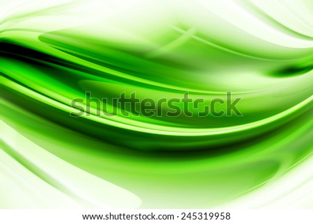Abstract Art Green Curved And Wavy Background - stock photo