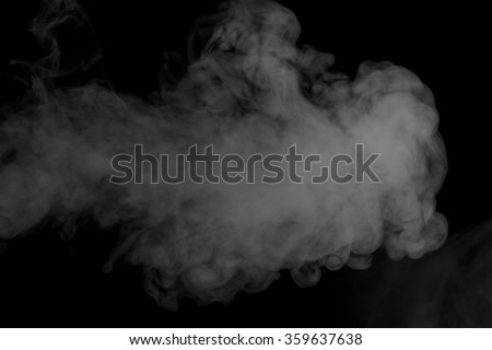 Abstract art. Grey smoke hookah on a black background. Inhalation. Steam Generator. The concept of aromatherapy. - stock photo