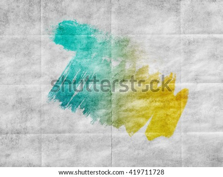 Abstract art hand paint isolated on white background. Watercolor stains. Watercolor banner - stock photo