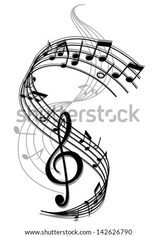 Abstract art music background with musical notes for entertainment design. Jpeg version also available in gallery