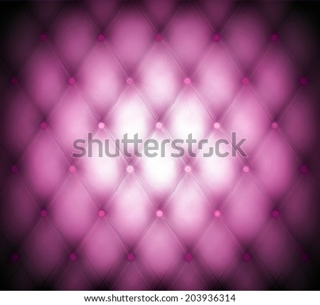 Abstract art skin background texture of an old natural luxury modern style leather with rhombs Classic light violet and dark red grungy decor retro wall, door, sofa, studio interior with metal buttons - stock photo