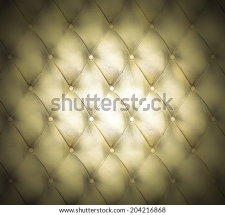 Abstract art used skin background texture of old natural luxury modern style rhombs leather Classic light brown and dark yellow grungy decor retro wall, door, sofa, studio interior with metal buttons - stock photo